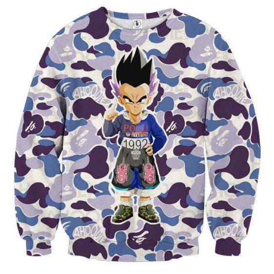 Cool Gotenks Blue Cameo Camouflage Streetwear Sweatshirt