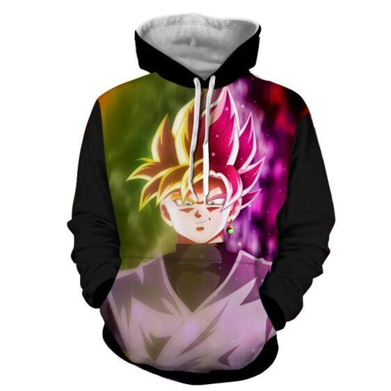 Dragon Ball Goku God Half Rose & Golden Fan Art Cool Hoodie