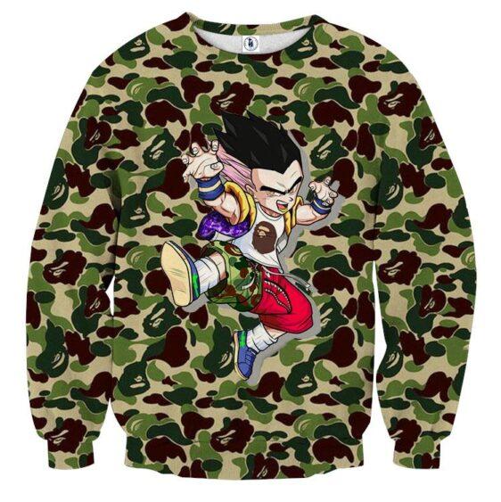 Gotenks Hip Hop Stylish Cameo Camouflage Cool Sweatshirt