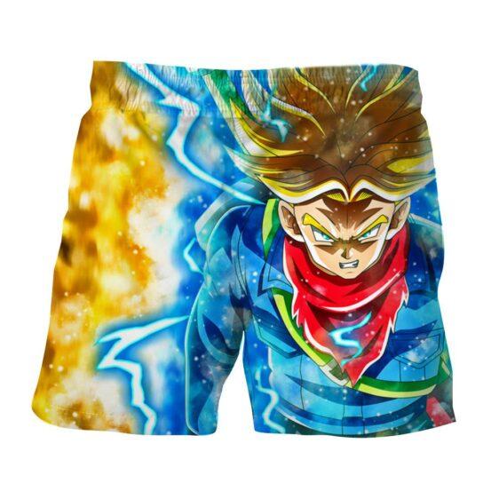 DBZ Rage Super Saiyan Trunks Portrait Unique Style Shorts
