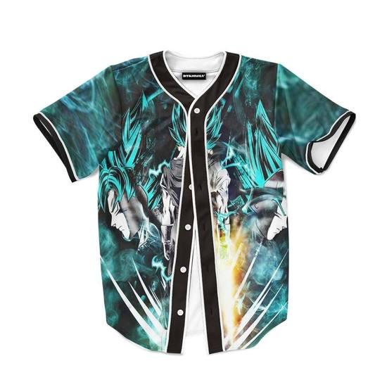 Dragon Ball Gogeta Super Saiyan Power Up Potara Fusion Design Baseball Jersey