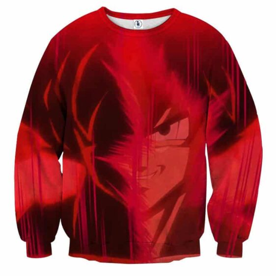 Dragon Ball Son Goku Portrait Japanese Anime Full Print Sweatshirt