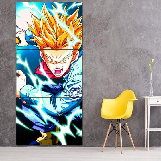 Dragon Ball Angry Trunks Lighting Aura Dope 3Pc Canvas Print