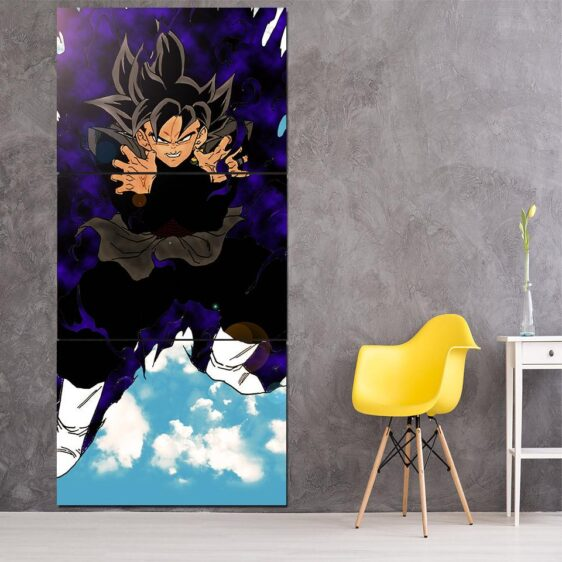 Dragon Ball Goku Black Dope Fighting Scene 3Pc Canvas Print