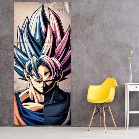 Dragon Ball Goku Super Saiyan Hero Japan Anime 3Pc Canvas Print