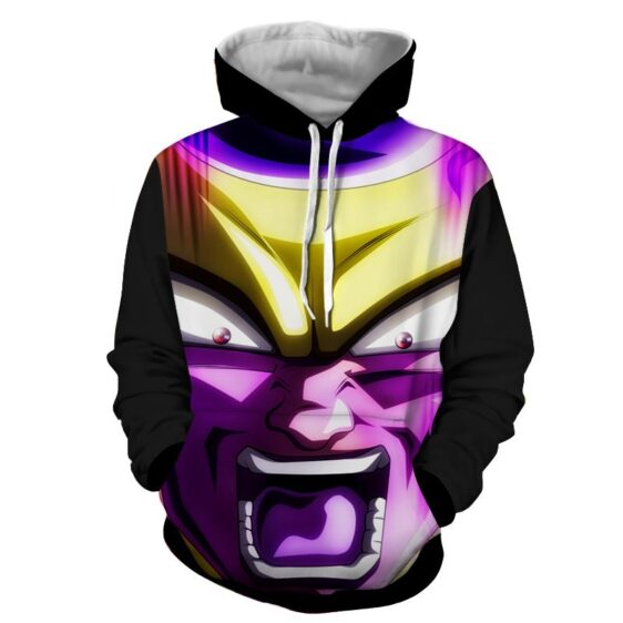 Dragon Ball Frieza Angry Portrait 3D Full Printed Cool Hoodie