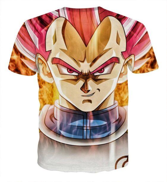 Dragon Ball Vegeta Super Saiyan Rose Portrait Cool T-shirt