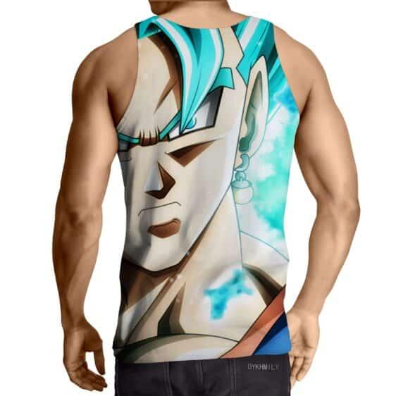 DBZ Son Goku Super Saiyan God Blue Portrait Stylish Tank Top