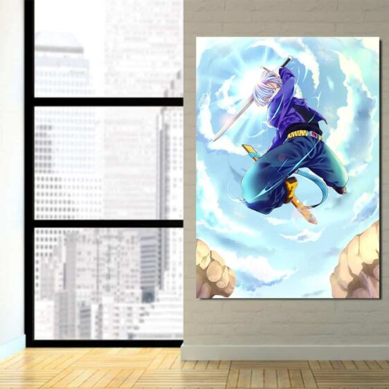 DBZ Future Trunks Awesome Sword Skill Cool 1Pc Canvas Print