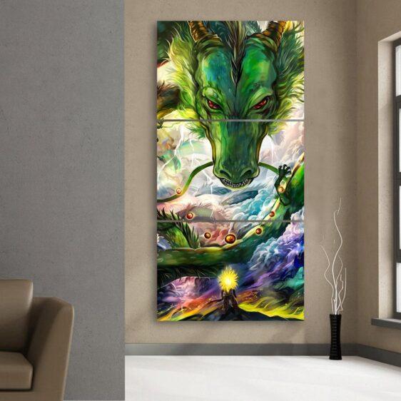 Shenron DBZ Powerful Dragon Battle 3Pc Canvas Print