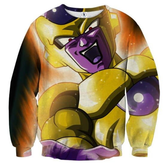 DBZ Golden Frieza Death Ball Dope Style Full Print Sweatshirt