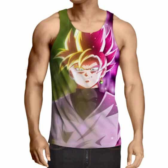 Dragon Ball Goku God Half Rose & Golden Fan Art Cool Tank Top