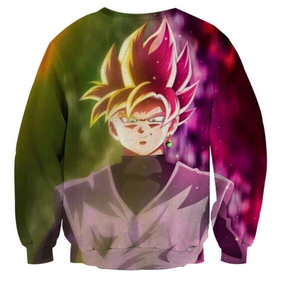 Dragon Ball Goku God Half Rose & Golden Fan Art Cool Sweatshirt
