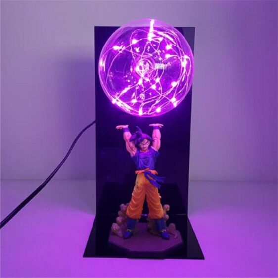 DBZ Son Goku Genki Dama Spirit Bomb Flash Ball DIY 3D LED Light Lamp