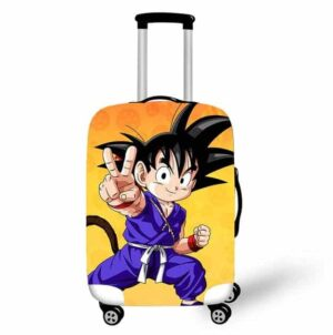 DBZ Happy Kid Goku Peace Sign Suitcase Protective Cover
