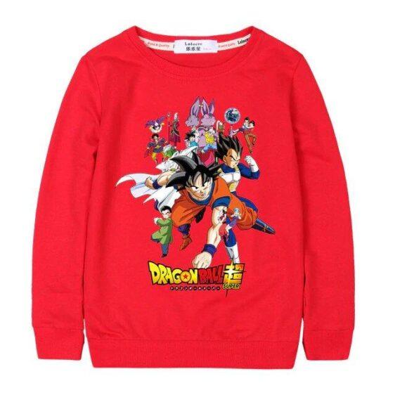 Dragon Ball Super Popular Anime Characters Kids Sweatshirt