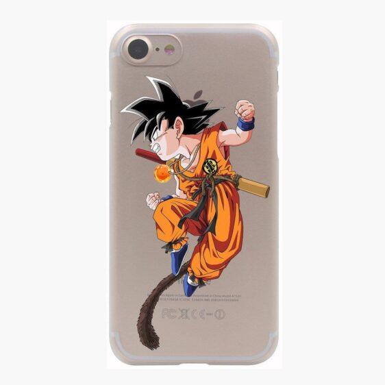 Dragon Ball Goku Kid Monkey Tail Fight Spirit PC iPhone 4 5 6 7 8 Plus X Case
