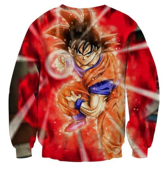 Dragon Ball Goku Ki Blast Skill Awesome 3D Design Sweatshirt
