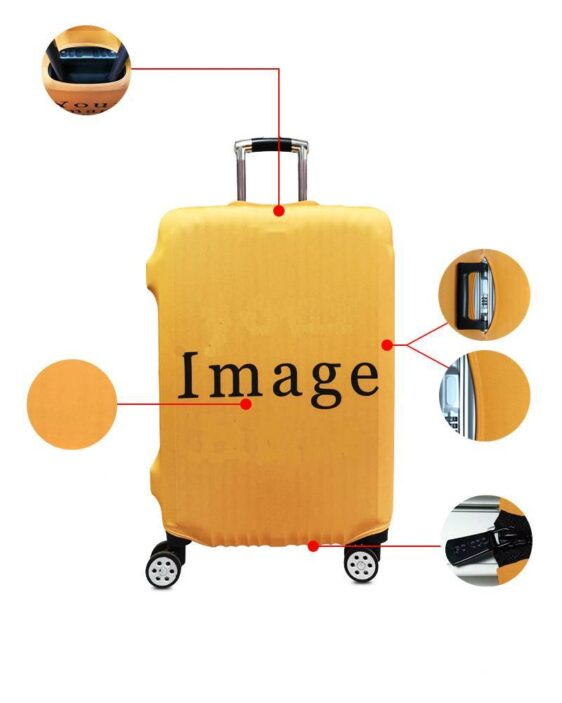 Goku Super Saiyan Red Train In Saiyan Travel Suitcase Cover
