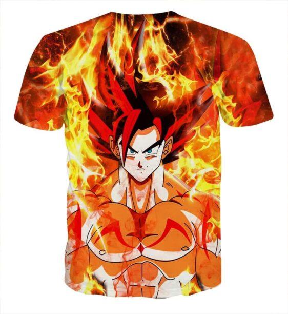 Dragon Ball Goku Super Saiyan Rose Flaming Fan Art T-shirt
