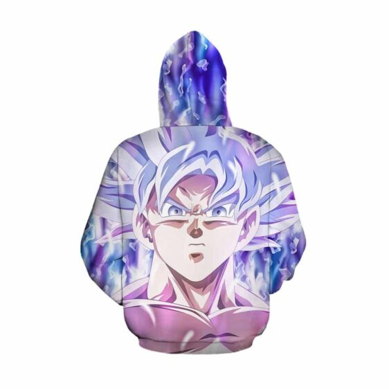 Dragon Ball Z Son Goku Ultra Instinct White Pullover Hoodie