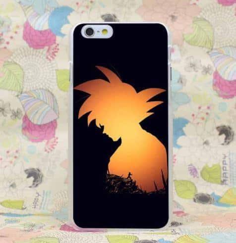 Dragon Ball Goku Saiyan Hero Training Simple Design iPhone 4 5 6 7 8 Plus X Case