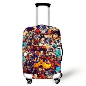 DBZ Goku's Fight & Saiyan Form Design Suitcase Cover