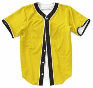Dragon Ball Z Charming Face Son Goku Yellow Baseball Jersey