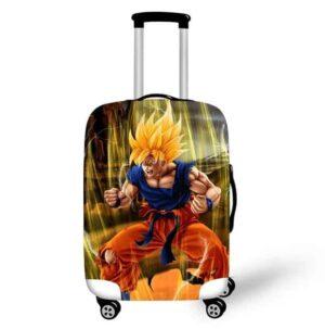 DBZ Son Goku SSJ1 Fan Art Design Travel Luggage Cover