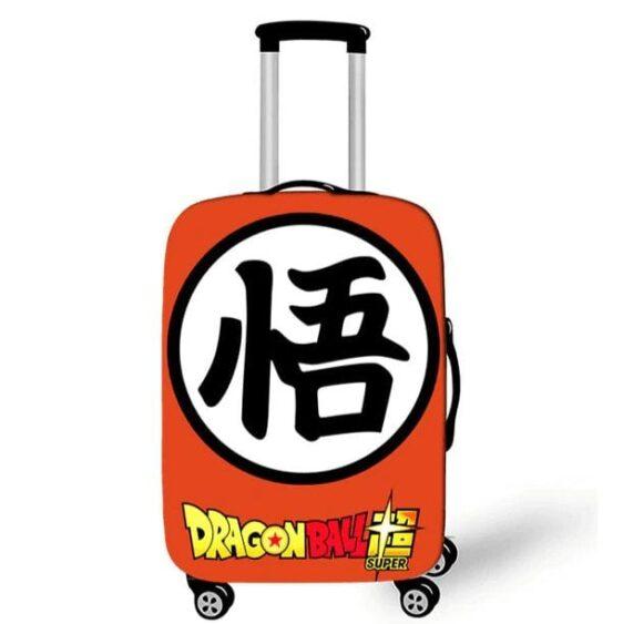 Dragon Ball Super Goku Kanji Orange Luggage Cover