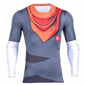 Android 17 DBZ Clothes Fitness Skin Workout Gym Compression 3D Shirt