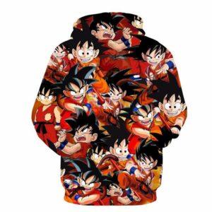 Angry Mad Kid Goku Character Pattern Kamehameha 3D Hoodie - Saiyan Stuff
