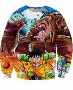 Art Style Gohan Great Ape Colorful DBZ Graffiti Painting Sweatshirt - Saiyan Stuff