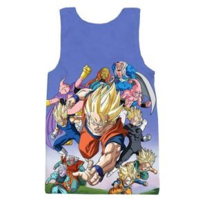 Babidi Saga Characters Goku Z-Fighters Dabura Supreme Kai Tank Top - Saiyan Stuff