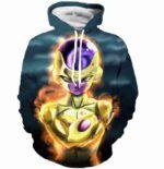 Bad Golden Frieza Goruden Furiza Ultimate Form 3D Hooded Sweatshirt - Saiyan Stuff