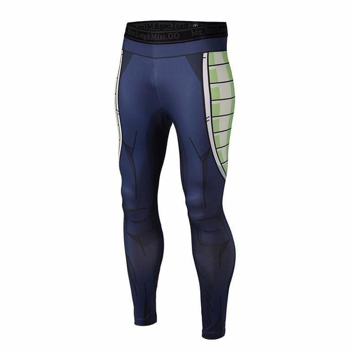 Bardock Armor Green Black Waist Fitness Gym Compression Leggings Pants