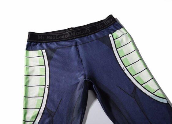 Bardock Armor Green Black Waist Fitness Gym Compression Leggings Pants - Saiyan Stuff - 3