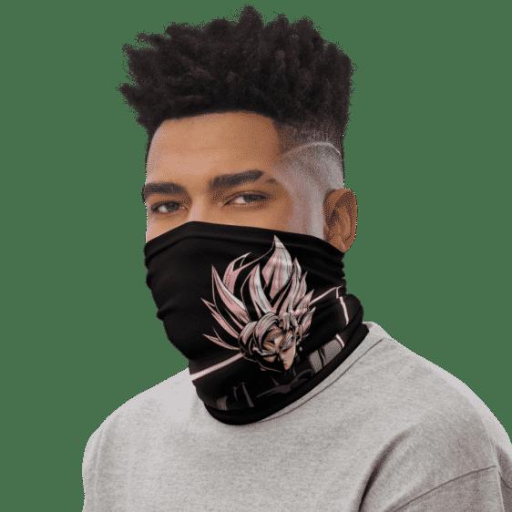 Dragon Ball Z Goku Black Super Saiyan Rose Face Covering Neck Gaiter