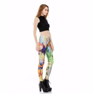 Blue Super Saiyan Goku Shenron Women Compression Fitness Leggings Tights - Saiyan Stuff - 2
