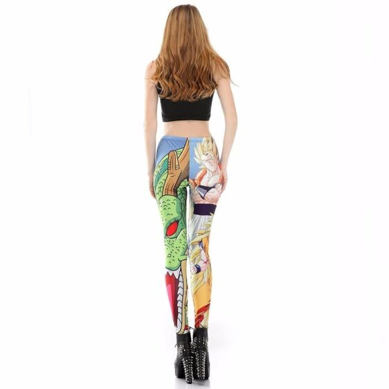 Blue Super Saiyan Goku Shenron Women Compression Fitness Leggings Tights - Saiyan Stuff - 4