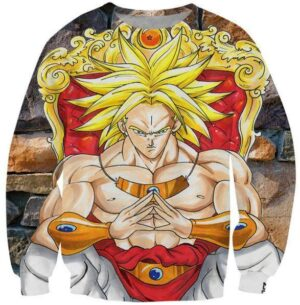 Broly Saiyan King Graphic 3D Stylish Sweatshirt - Saiyan Stuff
