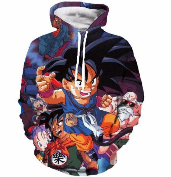 Bulma Yamcha Angry Kid Goku Master Roshi Dragonball 3D Hooded Sweatshirt - Saiyan Stuff