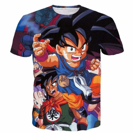 Bulma Yamcha Angry Kid Goku One of a Kind Dragonball 3D T-Shirt - Saiyan Stuff