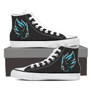 DBZ Prince Vegeta Blue Outline Black Stylish Sneaker Shoes