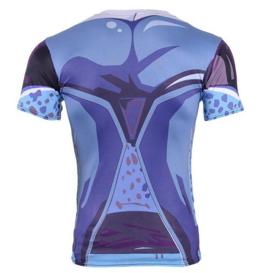 Cell Jr. Blue Skin DBZ Monster 3D Compression Gym T-Shirt