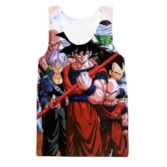 Cell Saga Goku Z-Fighters Warriors Characters 3D Tank Top - Saiyan Stuff