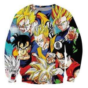 Classic Dragon Ball Z Gohan Stylish Cool 3D Sweatshirt - Saiyan Stuff