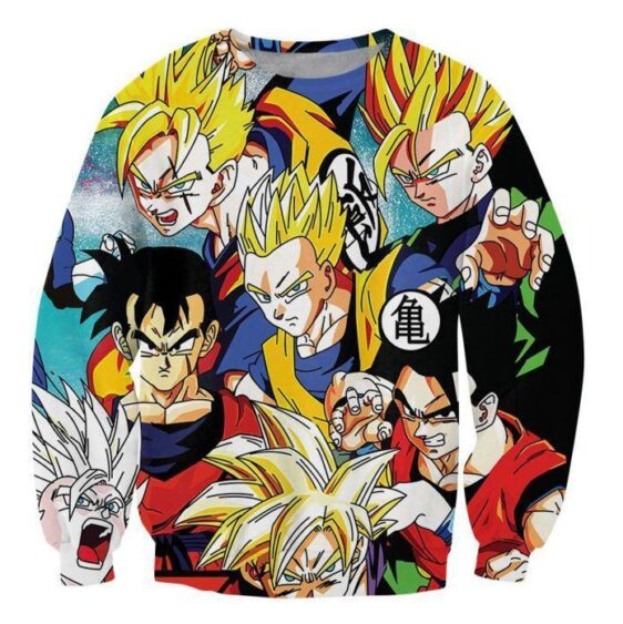 Classic Dragon Ball Z Gohan Stylish Cool 3D Sweatshirt - Saiyan Stuff