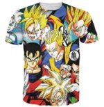 Classic Dragon Ball Z Cool Gohan Stylish 3D T-Shirt - Saiyan Stuff