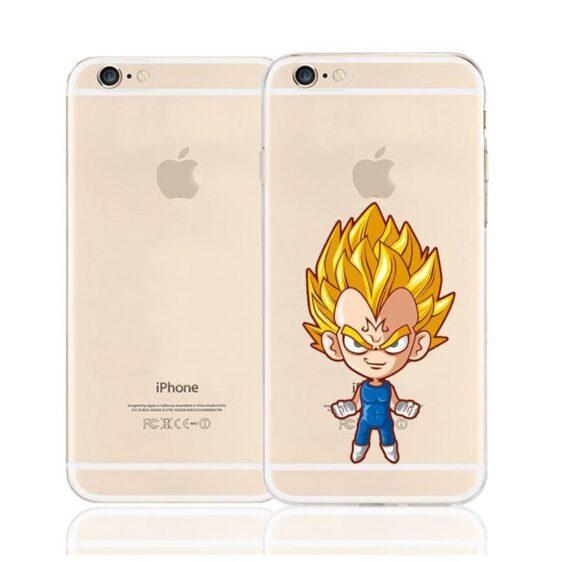 Cute Evil Majin Vegeta Super Saiyan Character Back Cover for iPhone 6 6s Plus